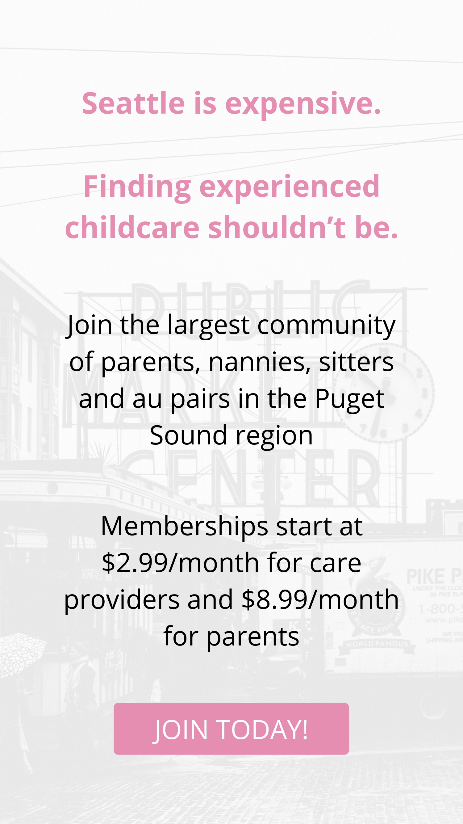 experienced childcare in seattle